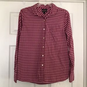 J.Crew club collar gingham shirt size 10